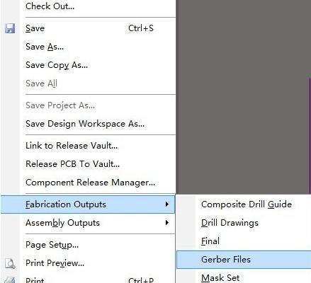PCB Gerber file output